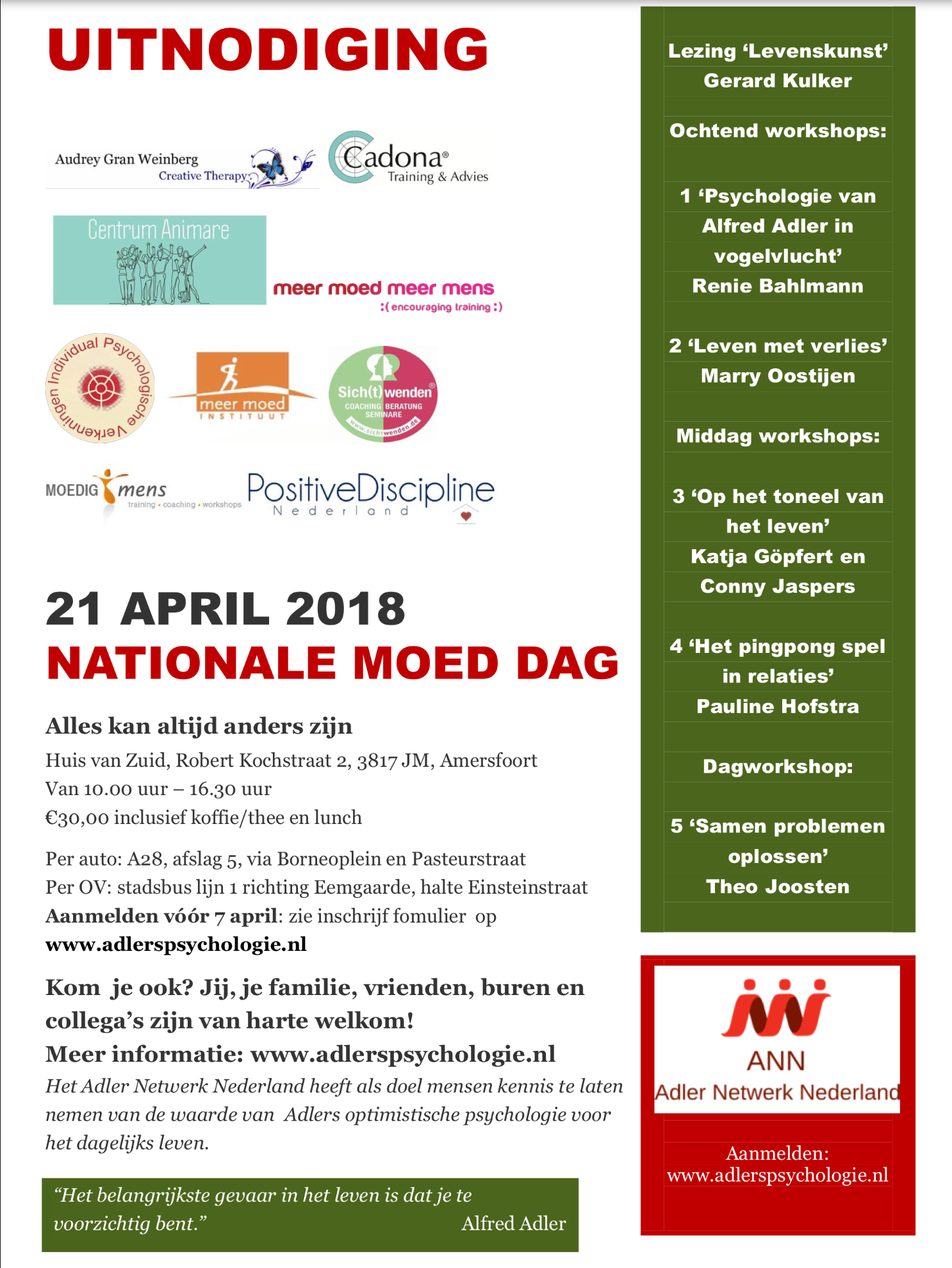 Nationale Moed Dag 2018